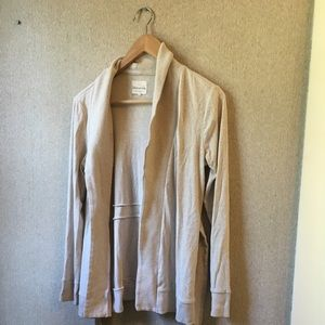 Oatmeal colored banana republic tie front cardigan